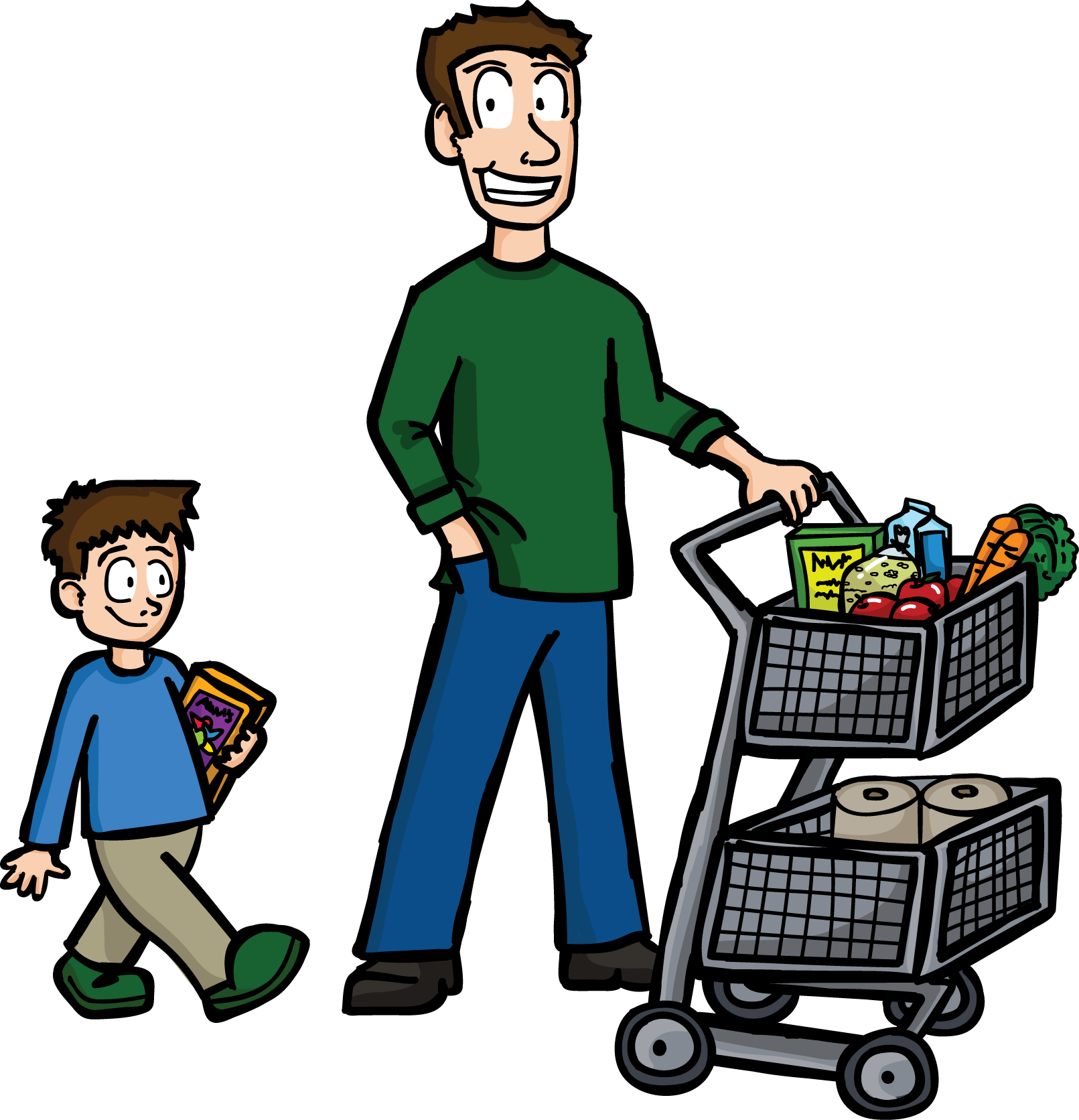 groceries vector cartoon