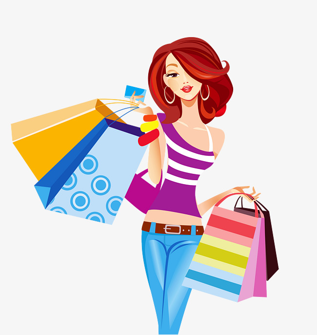 shopping clipart female shopping