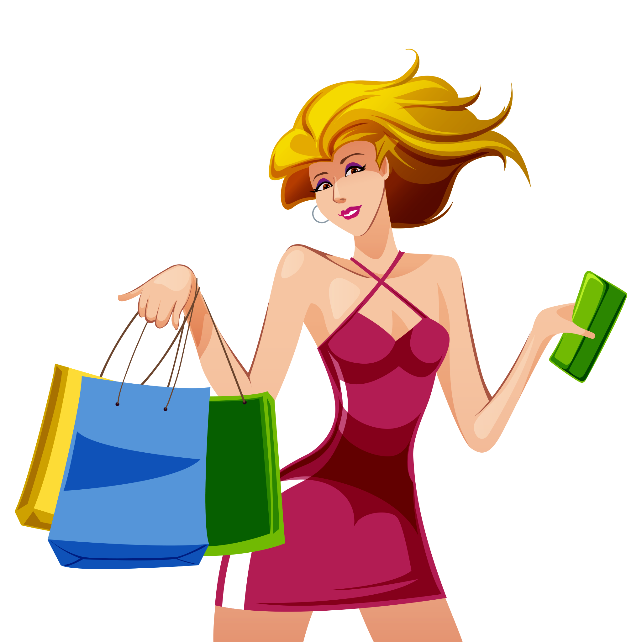 Shopping transparent girl png. Clipart image free download