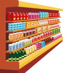 Shelf vector store. Shop clip art