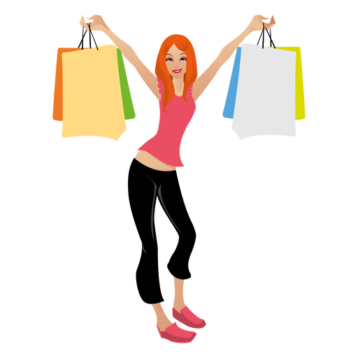 Blonde girl png svg. Shopping transparent cartoon image freeuse download