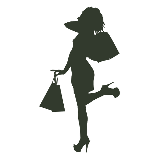 Girl with bags png. Shopping transparent cartoon freeuse stock
