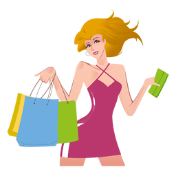 Girl png svg vector. Shopping transparent cartoon jpg freeuse download