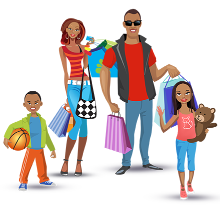 Shopping transparent family. Ladies clipart free png