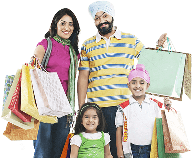 Shopping transparent family. Download hd indian images
