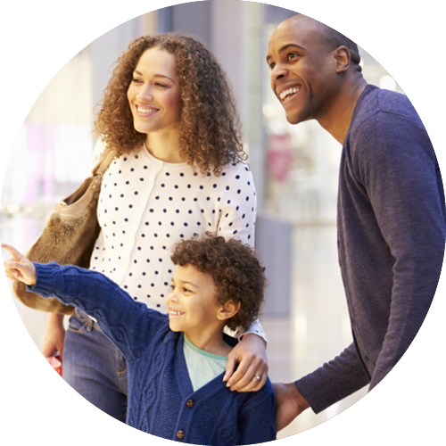 Shopping transparent family. Health insurance exchanges national