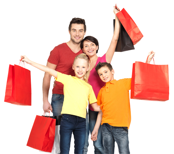 Shopping transparent family. Png images all download