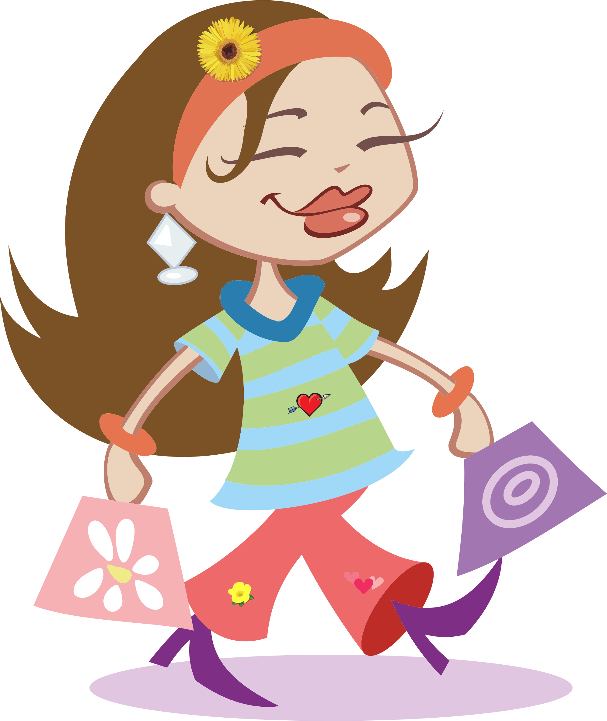 Shopping transparent girl png. Happy icons free and
