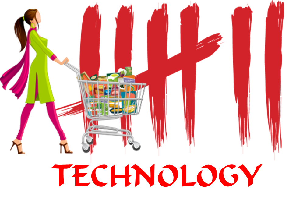 Seven technologies helping grocery. Shopping transparent personal clipart black and white
