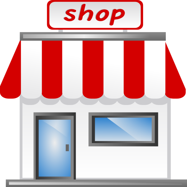 Shopping transparent retail. Collection of clipart