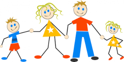 Short clipart 4 person family. My essay for children