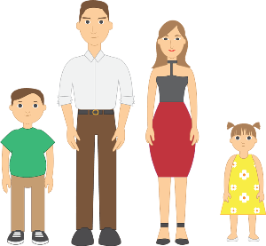Short clipart 4 person family. Essay on small for