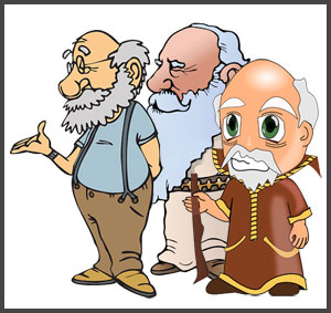 Short clipart 4 person family. The three men and