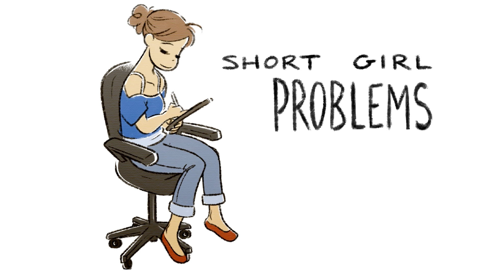 Short clipart short lady. Girl problems youtube