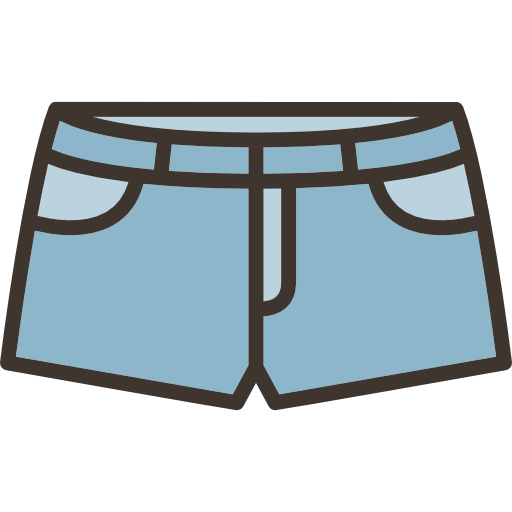 Jeans vector lady shorts. Denim icons free download