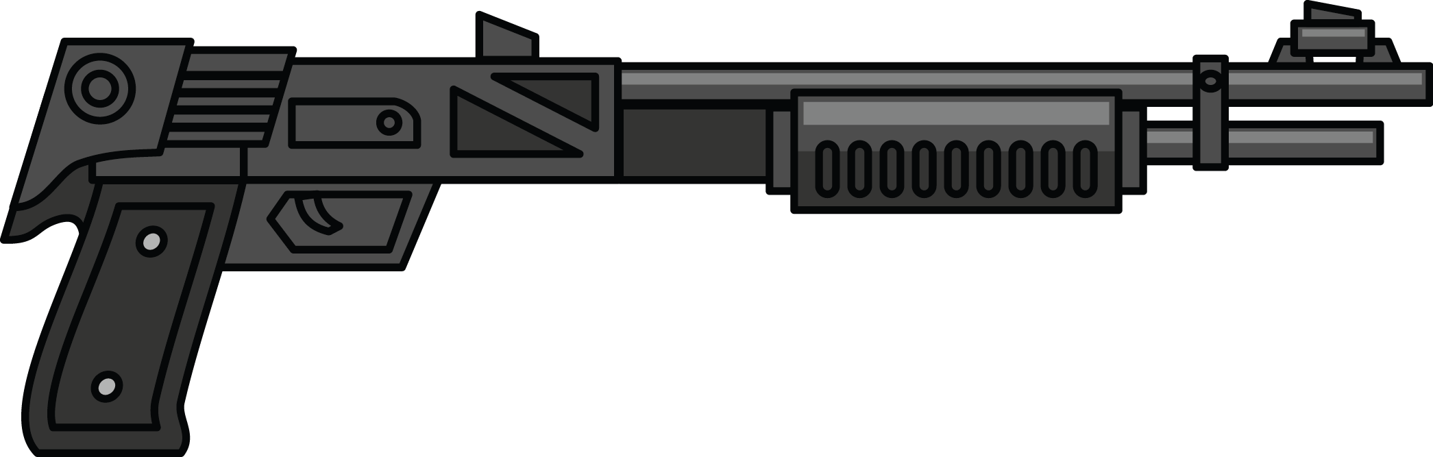 Vector shot gun. Free shotgun cliparts download