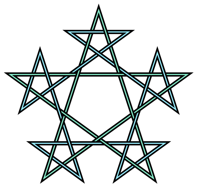 vector pentagram red