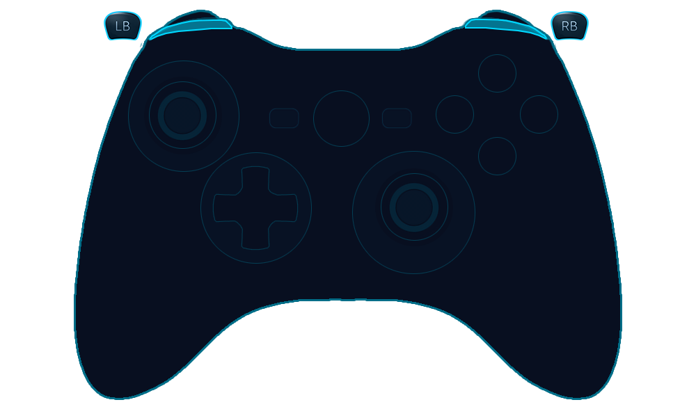 Shoulder buttons png. Microsoft xbox controller steamworks