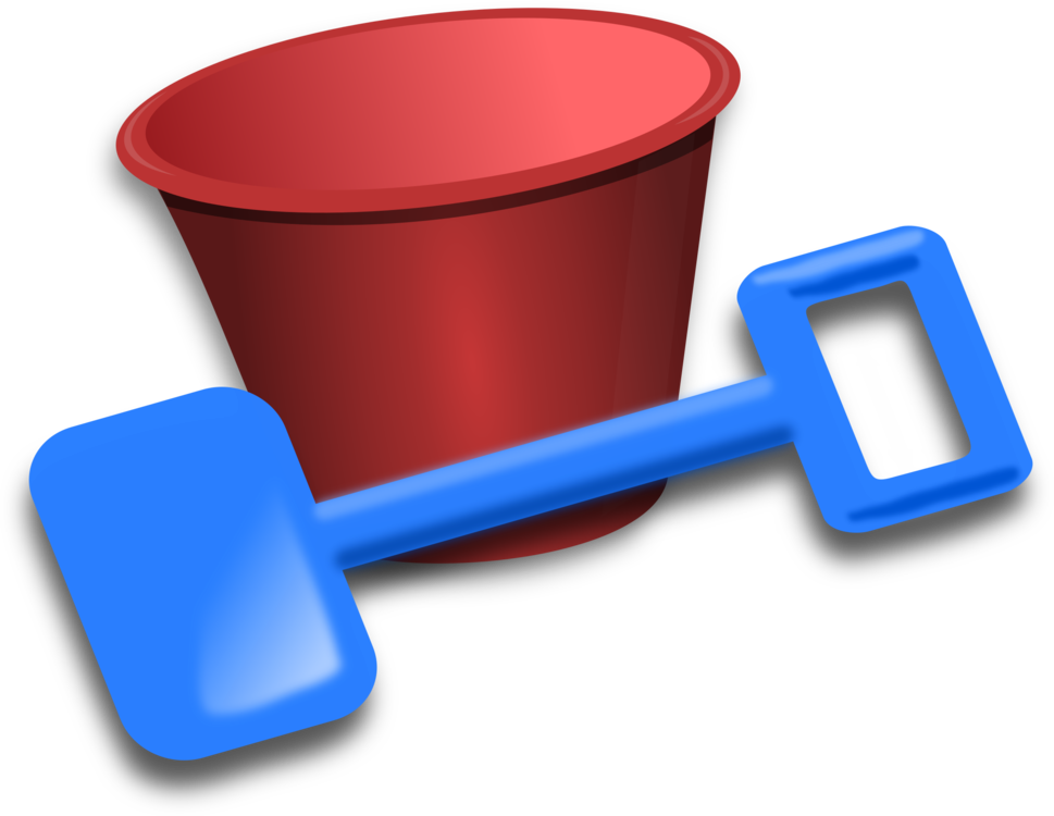 Shovel clipart blue bucket. And spade download free