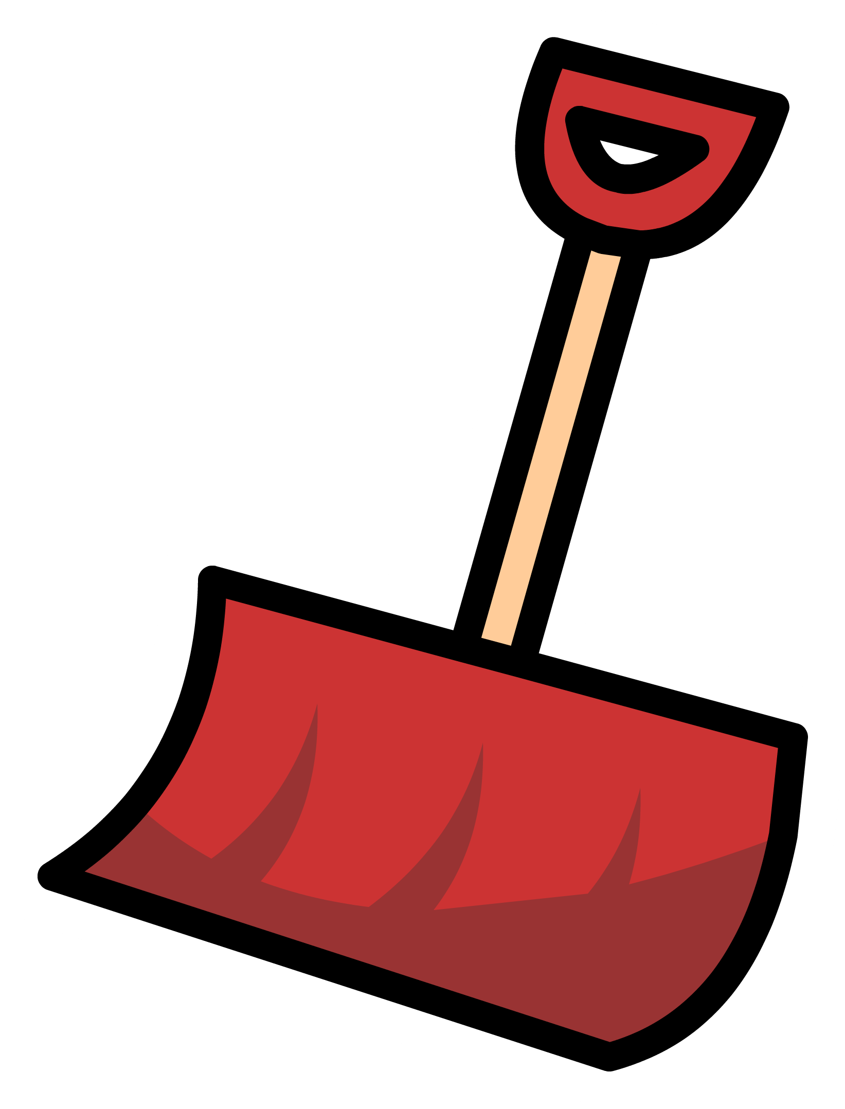 Snow shovel png. Image red pin club