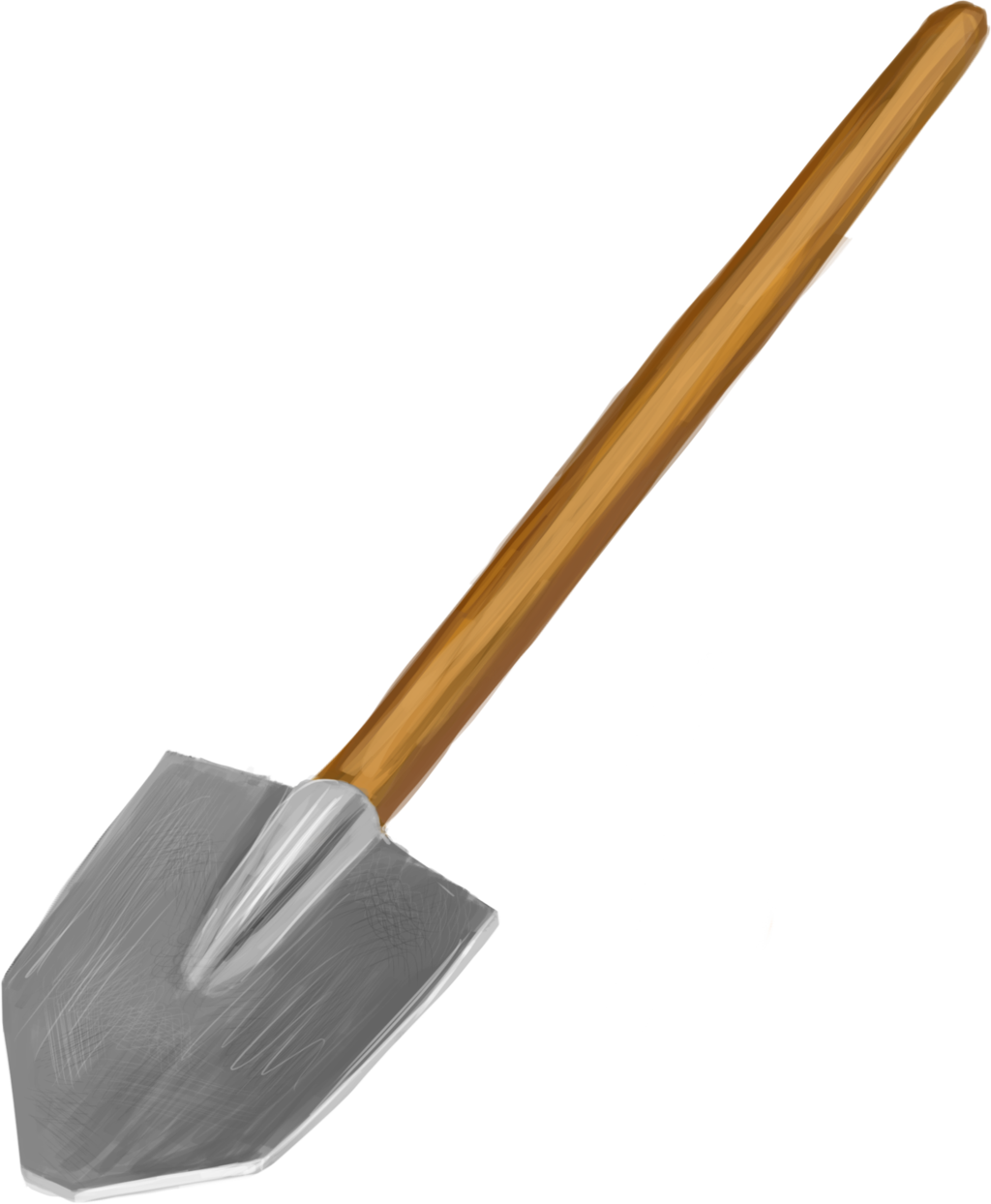 wooden spade png