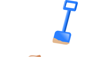 Vector sand free. Spade in the clip