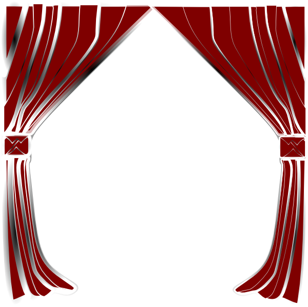 Show curtains png. Clip art at clker