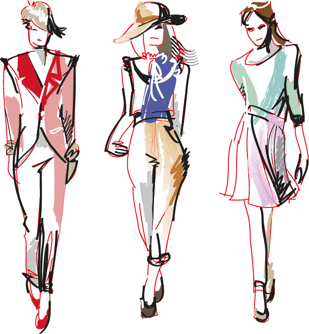 Show drawing fashion. Croquis model transprent png