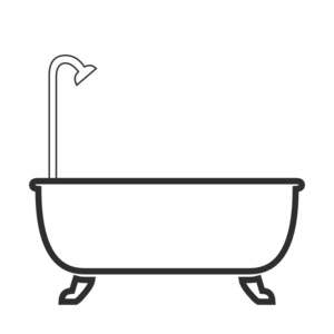 shower vector bathtub