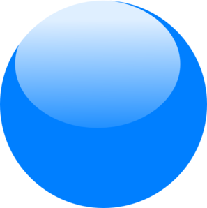 Bubble clipart. Blue single