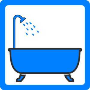 Shower vector bath. Tub and clip art