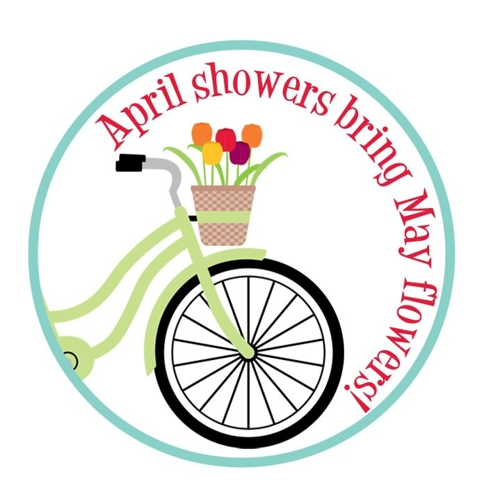 Showering clipart flower. April flowers free showers