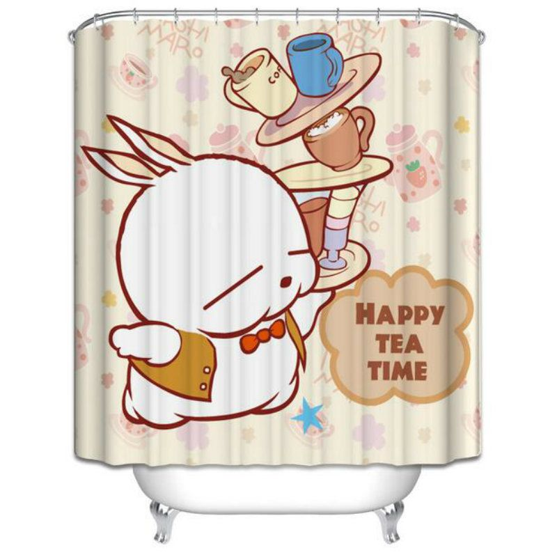 Showering clipart shower curtain. Muddy rabbit decoration household