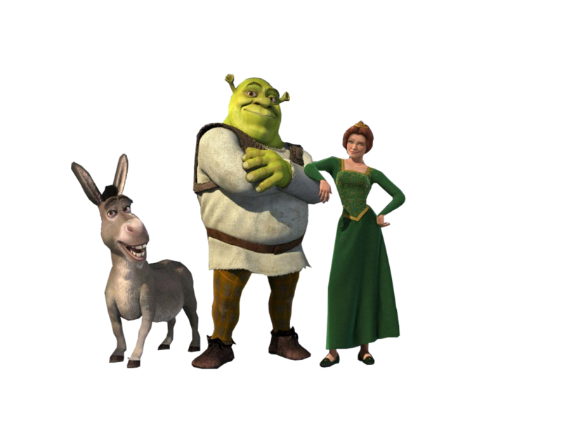 Shrek and donkey png. Fiona psd official psds