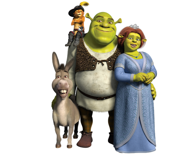 Shrek and donkey png. Papercraft activities reader giveaway