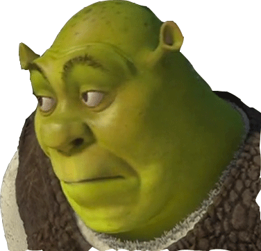 Shrek meme png. Sticker funny