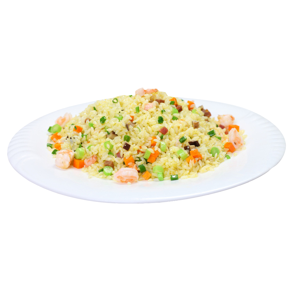 Shrimp fried rice png. Chinese cuisine stir frying
