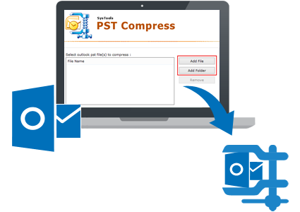 Shrink a file size png. Compress pst tool to