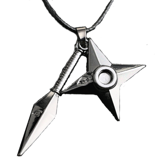 Shuriken naruto png. Kunai necklace berrynoice