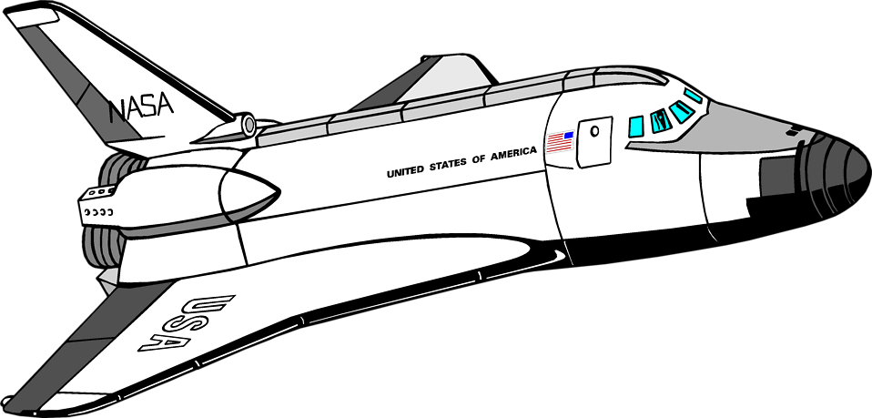 Spacecraft drawing space vehicle. Shuttle clipart