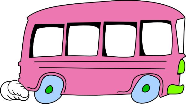 Vector van travel. Free animated bus cliparts