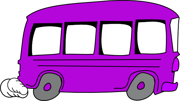 Purple bus