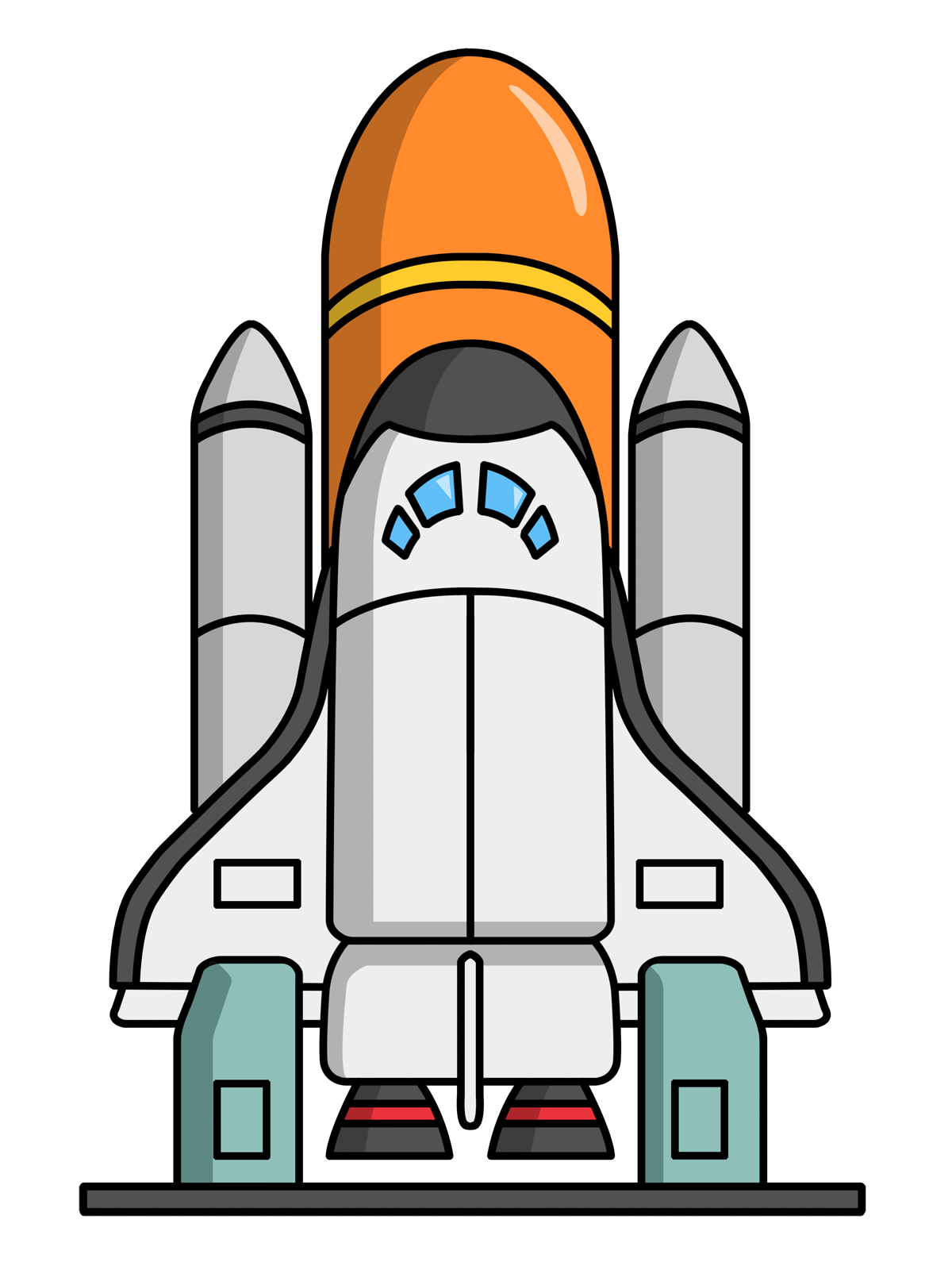 Shuttle clipart simple. Free domain clip art