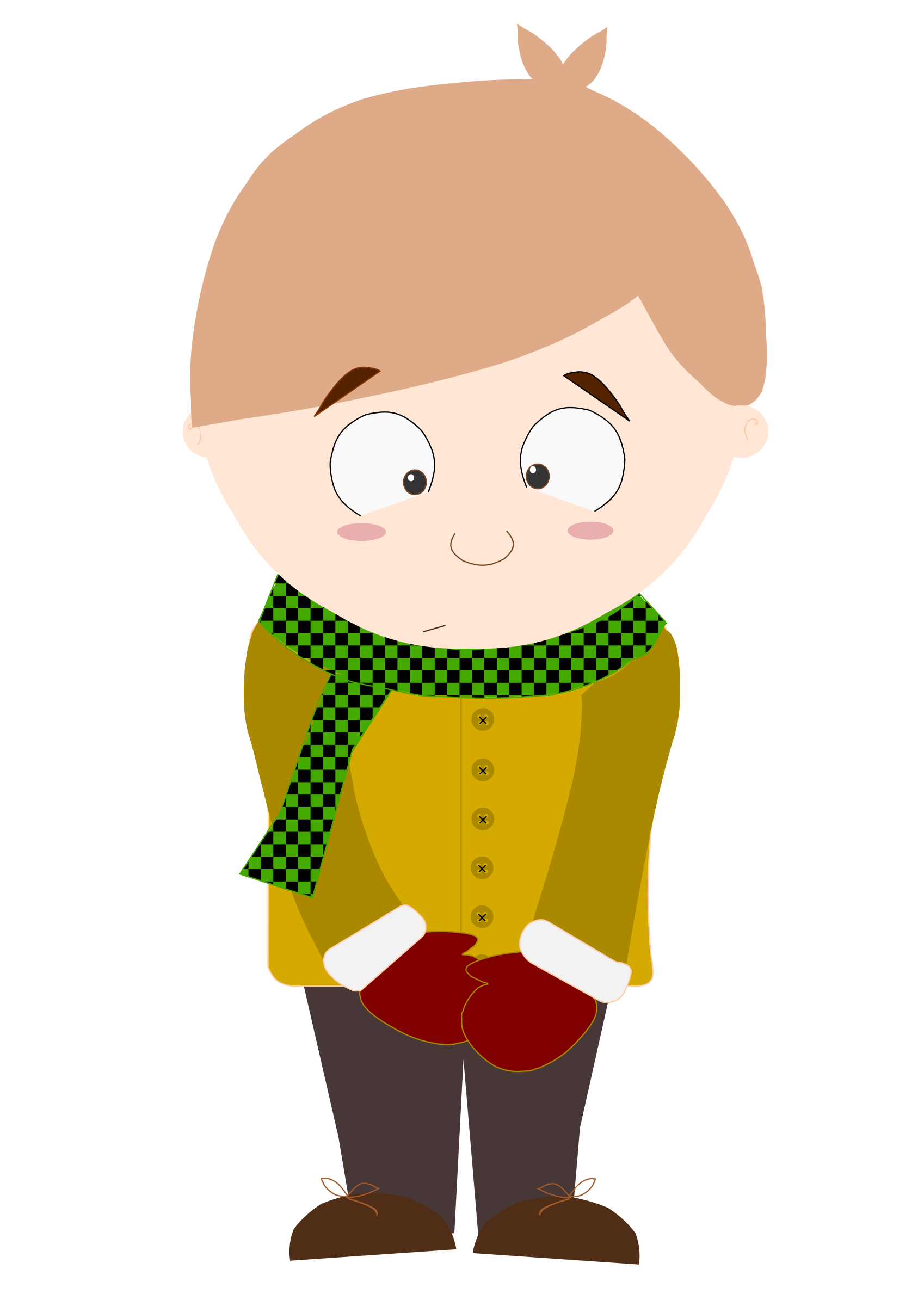 Shy clipart child lost. Cartoon kid animation by