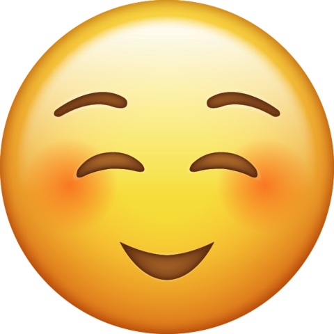 Emoji clipart happy. Shy png transparent background