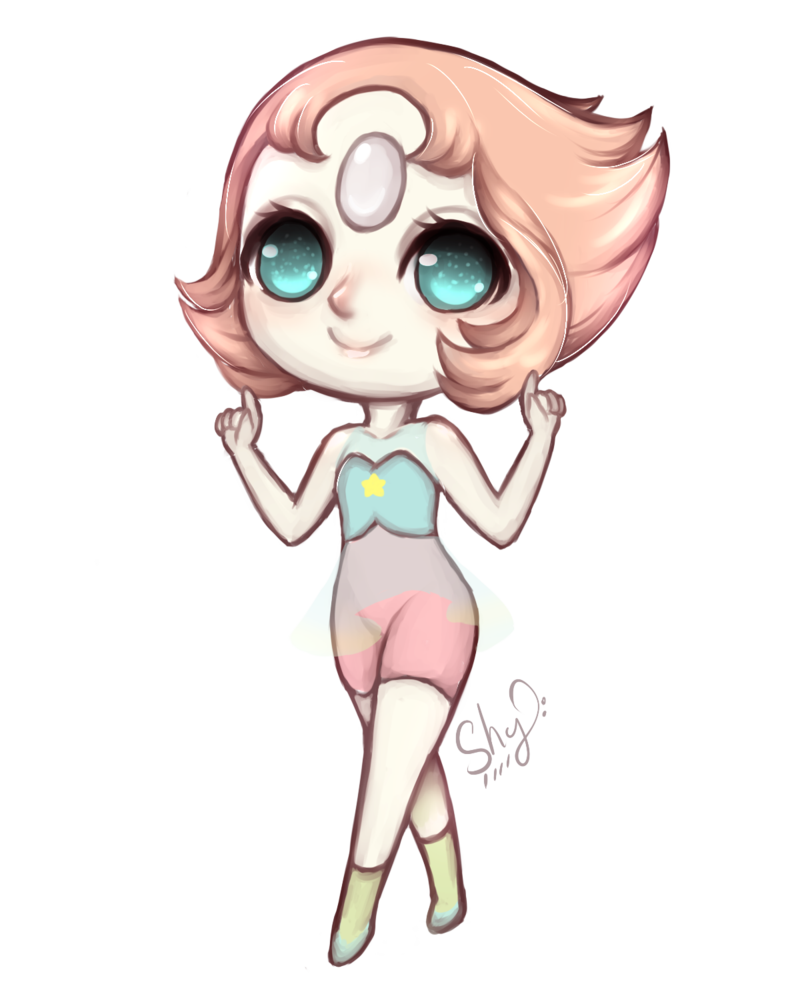Shy drawing chibi. Perla by deniz on
