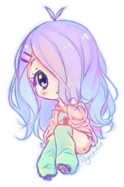 shy drawing chibi