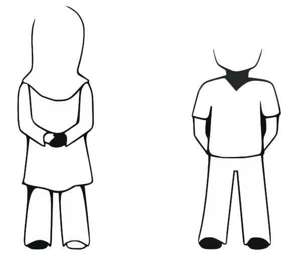 Siblings clipart brother face. Sister noface clip art