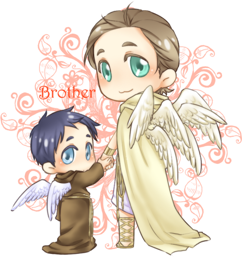 Supernatural clip castiel. Chibi gabriel and