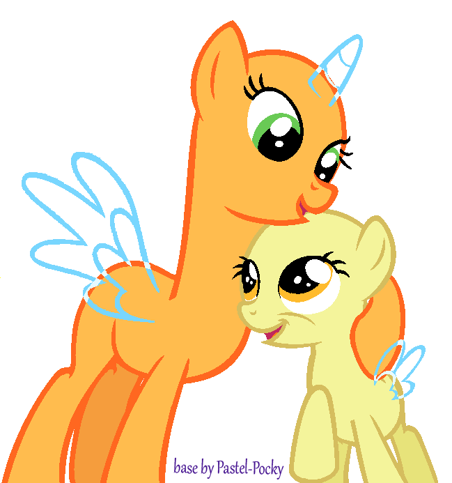 Siblings drawing cute christmas couple. My little pony base